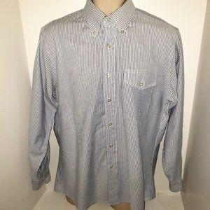 Mens LL Bean Striped Classic Button Down Shirt USA